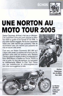 L'article de Motos d'Hier